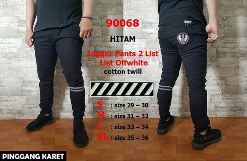 Celana Jogger Pants 2list Off-White Bahan Premium Di Jamin