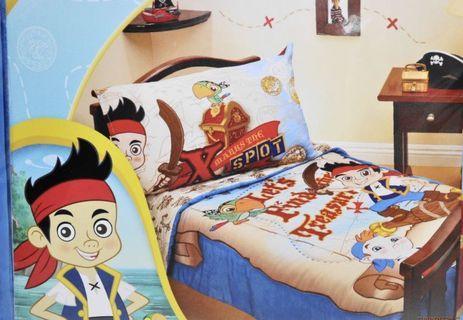 Disney Jake 傑克船長 床品4件套 床單 兒童被 枕套