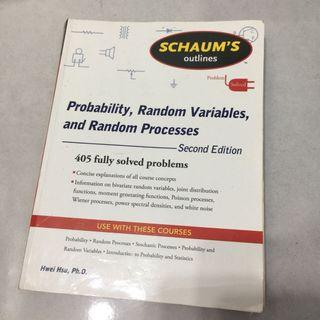 Probability, Random variables and random processes 2nd Edition