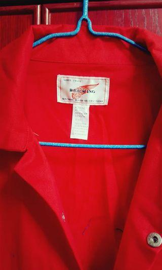 Red Wing overalls in red and blue color