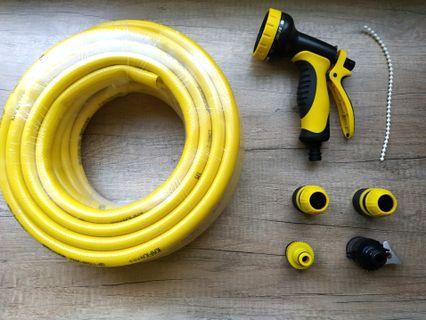 卡夫卡九段式園藝花灑噴槍+15米水管組,出清價500含運