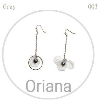 灰色氣質耳環