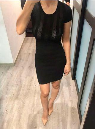 BUY 2 GET 1 FREE! BNWT French connection Black Textured Perforated Dress ( XS )