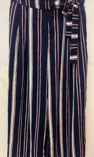 Authentic Zara trafaluc stripes palazzo #APR75