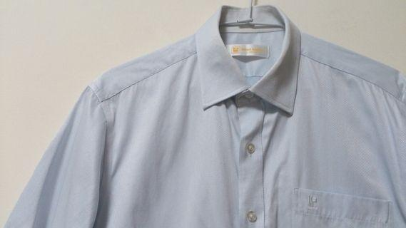 Kinloch Anderson粉藍色短袖襯衫