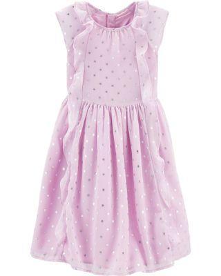 Oshkosh Lilac Polka Dot Ruffles Dress