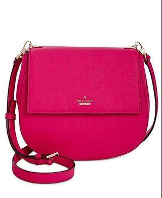 Authentic Pink Kate Spade Saddle Bag - Perfect for V Day!