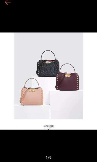 Charles & keith sling bag studed