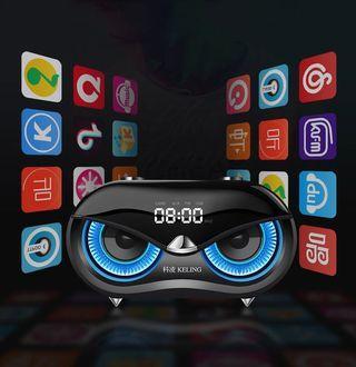 Mobile phone wireless bluetooth speaker portable desktop home alarm clock speaker subwoofer computer audio-intl