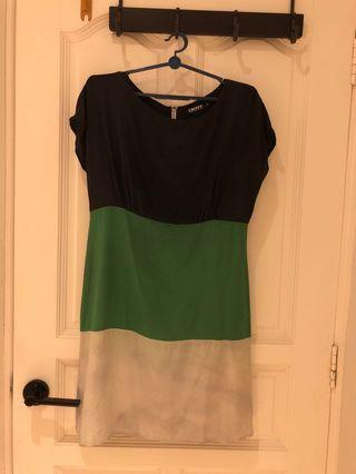 Colour block dress