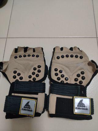 vintage rollerblade wrist guard/ gloves