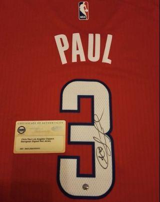 NBA Jersey Chris Paul 基斯保羅 簽名球衣