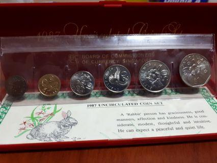 🚚 1987 Uncirculated Coins Set