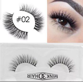 🚚 3D Mink Eyelashes Extensions Natural Handmade Fake Eyelashes #02