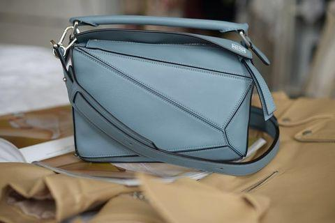 Authentic LOEWE Puzzle Bag Medium in Stone Blue (Pre-loved)