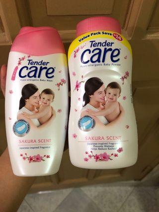 Tender care bath wash and powder