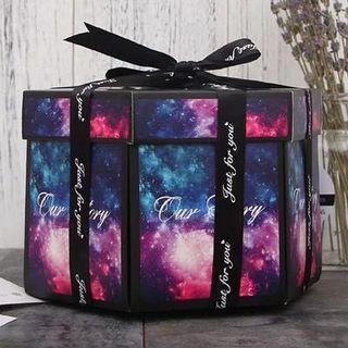 《全新》DIY卡片 爆炸六角禮物盒 創意情人節禮物