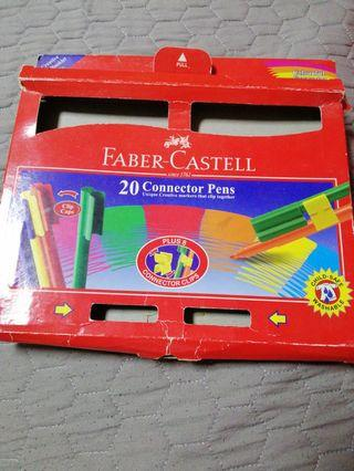 🚚 Faber Castell Colour Pencils(19 connector markers)