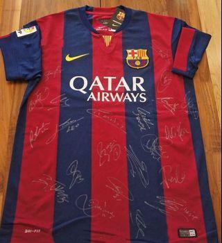 巴塞羅那簽名球衣