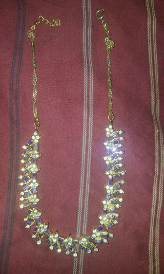 Gold & Purple Costume Jewellery Necklace