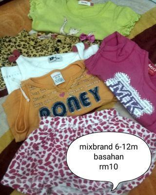 ( BAYAR POSTAGE SAHAJA ) Tshirt basahan/harian miki,poney,baby gap skirt