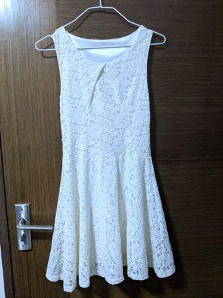 White Lace Dress #endgameyourexcess