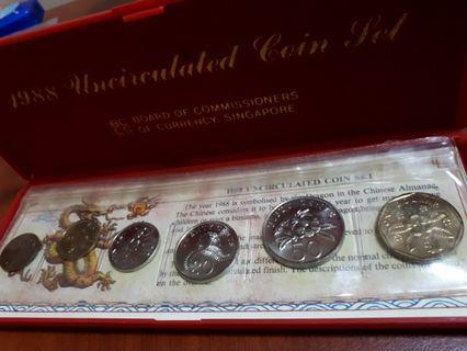 🚚 1988 Uncirculated Coin Set