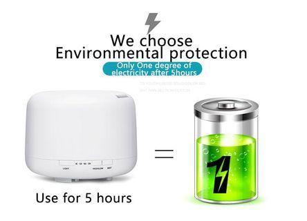 Aromatherapy Machine Air Humidifier Ultrasonic Mini Fragrance Lamp Home 500ML - International