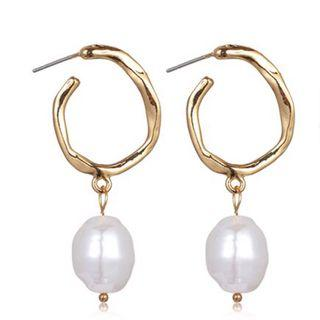 🚚 Gold Earrings with Pearl