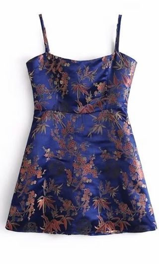 236c11a765a Inspired embroidered party casual silk dress. FREE SHIPPING