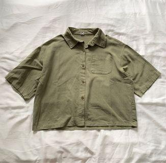 Oversized Boxy Button Shirt