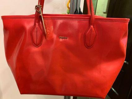 Authentic DKNY handbag red nego