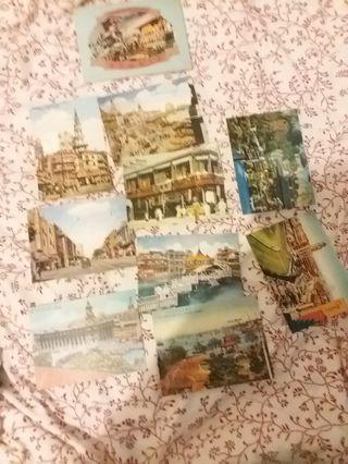 老上海明信片 一共有九張連盒 old Shanghai postcard 9pcs
