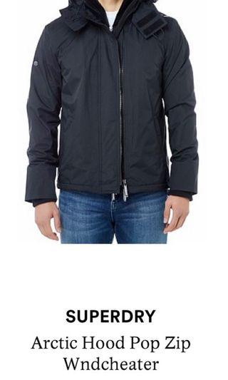 Superdry Wind Cheater Jacket Black