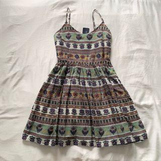 F21 Paisely Smocked Babydoll Dress