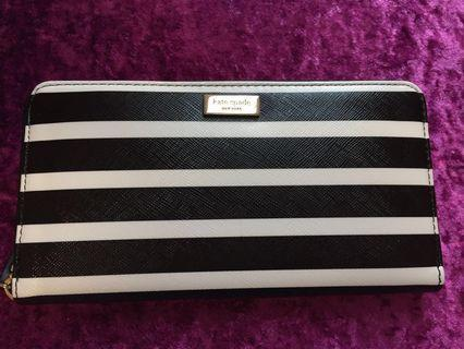 Kate Spade Black & White Striped Wallet