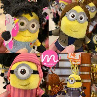 USJ 環球影城 Minions園內限定 新款代購 🔖 最新款 Minions Cosplay三姊妹 公仔掛飾