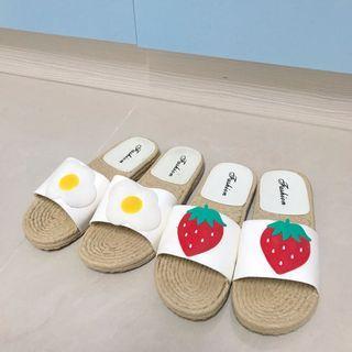 🚚 可愛造型拖鞋 草莓/小花