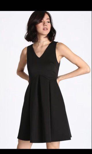 Love Bonito Nadane Box Pleats Dress in Black