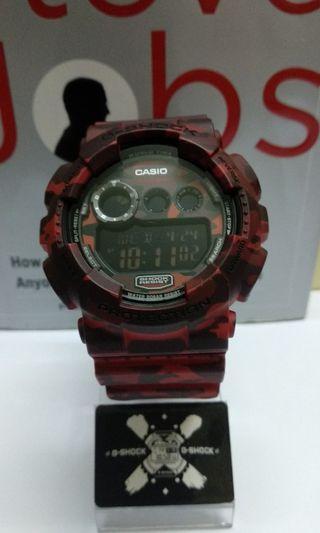 G-Shock GD-120CM Red Camo BOMBA