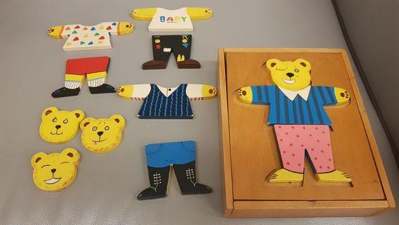 🚚 Wooden Toys Costume Puzzle