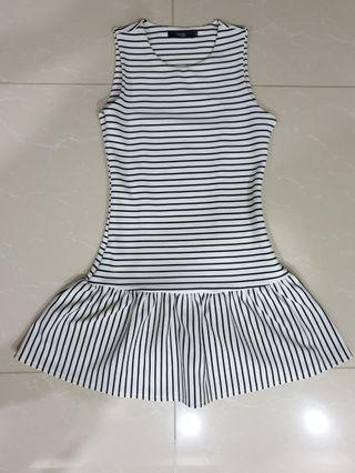 MDS Striped Dress