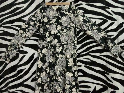 Jubah Dress Floral • Read before PM❗️
