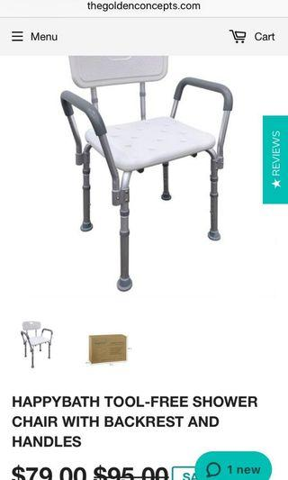 🚚 Shower chair with backrest