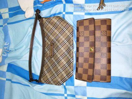 f1b3308cfca4 Both r Authentic LV long Wallet Coin pocket got some tears Not for fussy  buyer
