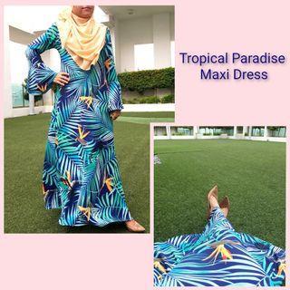 #GayaRaya (Raya Sales) Tropical Paradise Maxi Dress