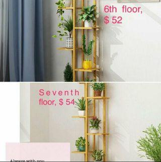 Multilayer solid wood flower stand
