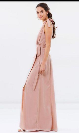 ATMOS&HERE nude pink dress . size 14
