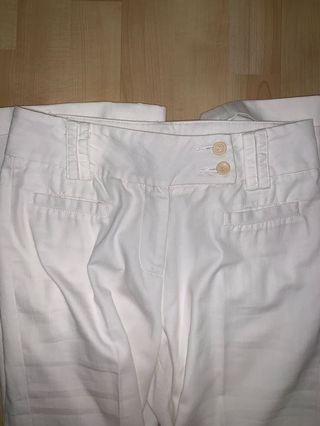 🚚 bega white pants w yellow buttons