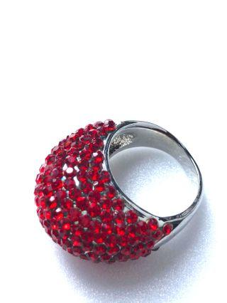 Women Red Crystal Stone Ring